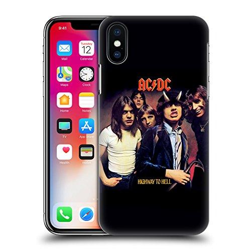 Ufficiale AC/DC ACDC Back In Black Copertina Album Cover Retro Rigida per Apple iPhone X Highway To Hell