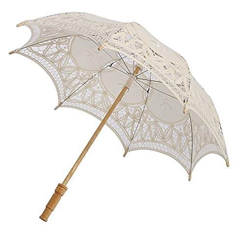 ESHOO Lace Umbrella Parasol Romantic Wedding Umbrella Costume Accessory Bridal