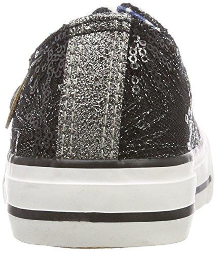 Fritzi aus Preußen Damen Hava Toe Cap Sneaker Sparkles Schwarz (Black)