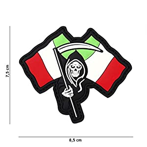 "Patch 3D PVC La Faucheuse Italie ""Reaper"" / Cosplay / Airsoft / Camouflage …"