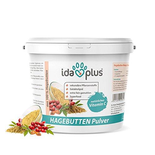 Ida Plus Hagebuttenpulver - 1 kg Eimer - Extra fein gemahlen - Getränkepulver mit natürlichem Vitamin C & Beta-Carotin - Superfood (1000 g) -