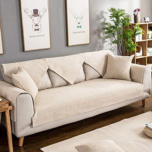 TSSCY Sofa Überwurf 1 stück, Couch-Decken Stretch hussen Anti-rutsch Stuhl beschützer Sofa wirft Möbel Sessel Loveseat Anti-mite-Weiß 90x150cm(35.4x59inch) - Hussen Sessel Stühle