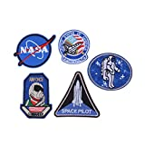 #6: Style 1 : Nasa Iron on Patches iron or sew on Embroidered Appliques