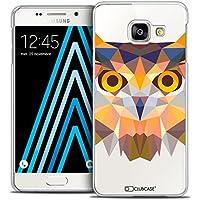 Caseink Coque Housse Etui Galaxy A3 2016 (A310) [Crystal HD Polygon Series Animal - Rigide - Ultra Fin - Imprimé en France] - Hibou