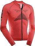 X-Bionic Biking Effektor Power Ow Lg_Sl.Full Zip, Maglia Bicicletta Uomo, Rosso/Nero, XXL