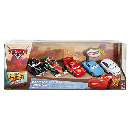 Disney Cars Radiator Springs DWW38 Classic Hometown 5-teilig in einer Sammelbox .