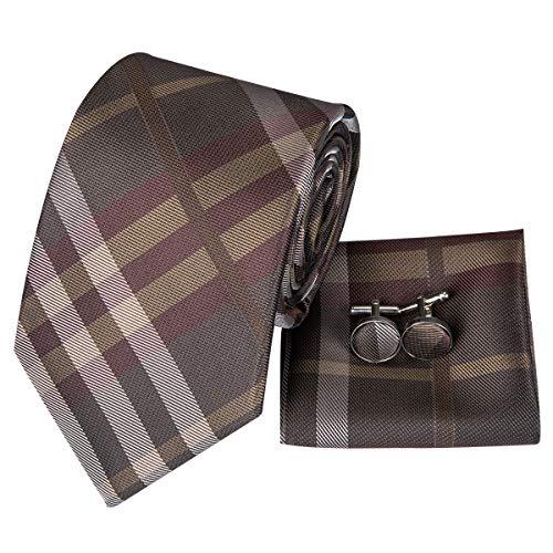 Hi-Tie - Cravate - Homme - Marron - Taille Uniqu