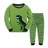 Baby Pyjama Baumwolle Kleinkind Jungen Kinder Dinosaurier Nachtwäsche Nachtwäsche Grüne Pyjamas Set 2 Jahre