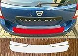 passgenau für Dacia Logan 2 MCV, ab 2013; Lackschutzfolie Ladekantenschutz transparent