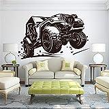 sticker mural Nouvelle voiture de course voiture de course bébé chambre d'enfant Ford BMW chevrolrt ecosport RC Car