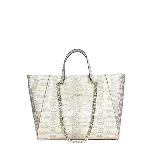 Guess Nikki Chain shopping bag tote python