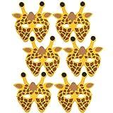6Stück Giraffe Schaumstoff Kinder Animal Face Masken
