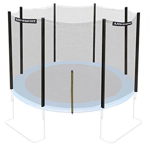 Ultrasport Sicherheitsnetz für Gartentrampolin Ultrasport Jumper Modelle ab Mai 2014, Ø 305 cm, Sicherheitsnetz für Trampolin, mit Reißverschluss, UV-beständig, belastbar