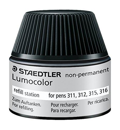 Staedtler 487 15 Lumocolor non-permanent Universalstift Nachfüllstation für 311/312/315/316, 15-20x Nachfüllen, schwarz