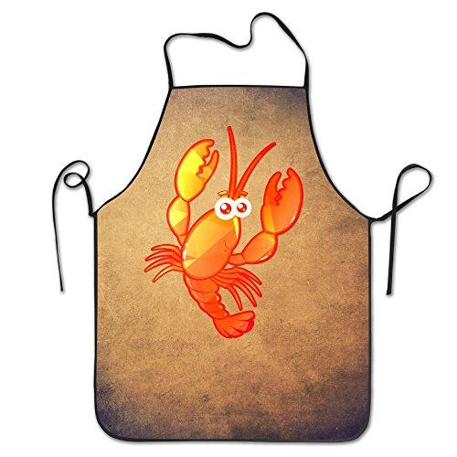 Funny Cute de langosta langosta ajustable babero Delantal adulto casa cocina Delantal chef delantal para hombres y mujeres
