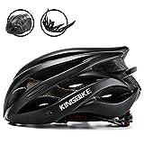 KING BIKE Fahrradhelm Helm Bike Fahrrad Radhelm FüR Herren Damen Helmet Auf Die Helme Sportartikel Fahrradhelme GmbH RennräDer Mountain Schale Mountainbike MTB (schwarz, XL(59-63CM))