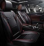 Siège de voiture en cuir à cinq places avec housse de siège de luxe de type 360...