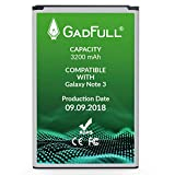GadFull Battery compatible with Samsung Galaxy Note 3 | 2018 Production Date |