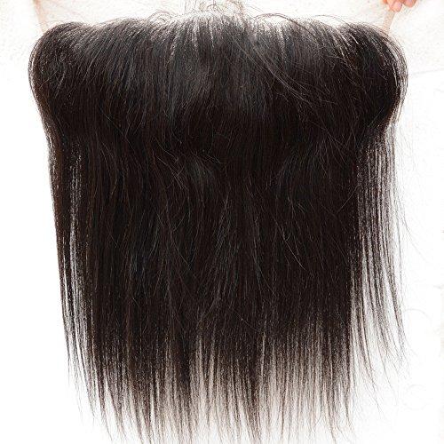 Noble Reine Cheveux vierge péruvienne Cheveux humains Dentelle Fermeture frontal d'une oreille à cheveux raides Frontals 1 pièce