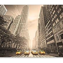 murando Carta da parati Fotomurali in TNT Murale alla moda Decorazione da Muro XXL Poster Gigante Design Carta per pareti 300x210 cm New York citta 10110904-71