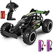 MOSFiATA G03063R 1:18 Scale 2.4Ghz Remote Control Car, 1520 km/h High Speed RC Car 2 Lithium Rechargeable Batteries, Electric Toy Car for All Adults and Kids, Green+Black