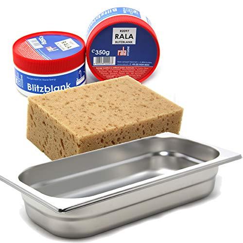 Miele Dampfgarbehälter DGG 2 + MARETeam® Reinigungsset mit Reinigungsschwamm und RALA Blitzblank