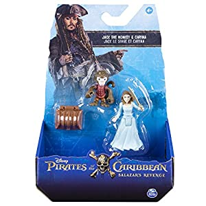 Piratas Del Caribe - Pack 2 Figuras de Monkey Jack y Carina (Bizak 61923101)