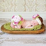 BabyMoon Baby White Shorts With Headband Flower Crochet - Set Of 2