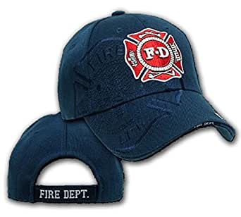 U.S Fire Department - Casquette brode embleme des Pompiers americain - Bleu Marine - Taille Unique