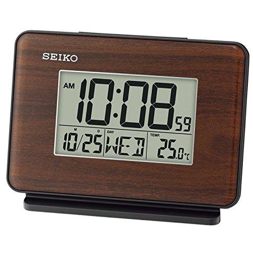 Seiko QHL068B - Reloj Despertador Pantalla LCD Medidas: