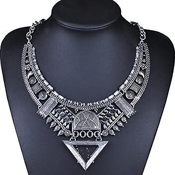 MSNHMU Retro Joyas De La India Collar De Diamantes Triángulo De Egipto 6
