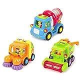 Push and Go Friction Powered Auto Spielzeug für Kleinkind Jungen unter 3 Jahren, 3er Set