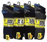12 Pairs Men's Work Socks Re-inforced heel & Toe 6-11 /gents work socks