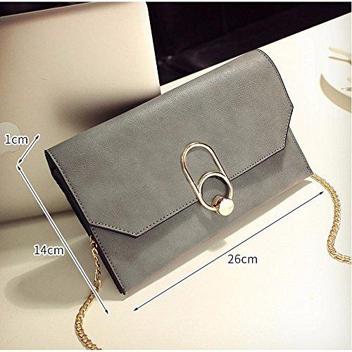 Handtasche Mode Freizeit Umschlag Tasche Handtasche Handtasche, grau Gray