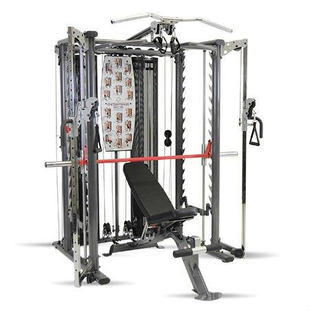 Inspire Fitness Smith Käfig-System inkl. zwei Gewicht Stacks und flach zu Steigung Übung Bench