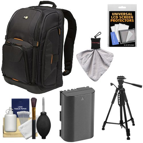 Case Logic Digital SLR Camera Backpack Case (Black) (SLRC-206) + LP-E6 Battery + Tripod + Accessory Kit for Canon EOS 70D, 80D, 5D Mark II III IV, 5DS, 5DS R, 6D, 7D Mark II  available at amazon for Rs.23439