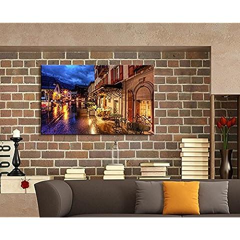 XYXY LED lámpara ciudad noche escena pintura decorativa colgante pintura sorpresa de arte moderno . d . 30*40