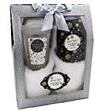 Badeset GLITTER Geschenkbox mit Pantoffeln Duschgel Badesalz - ZITRONENGRAS SALBEI