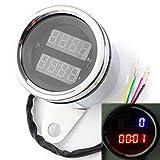 Universal 12V Motorrad LED Digital Tachometer und Meßuhr