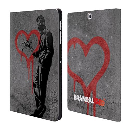 Head Case Designs Offizielle Brandalised The Hustler Banksy Kunst Straßenkünstler Brieftasche Handyhülle aus Leder für Samsung Galaxy Tab S2 9.7 (Hustler Leder)