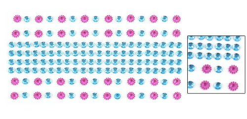 Smartphone Self Adhesive Fuchsia Blau Faux Rhinestone-Stern-Aufkleber DIY
