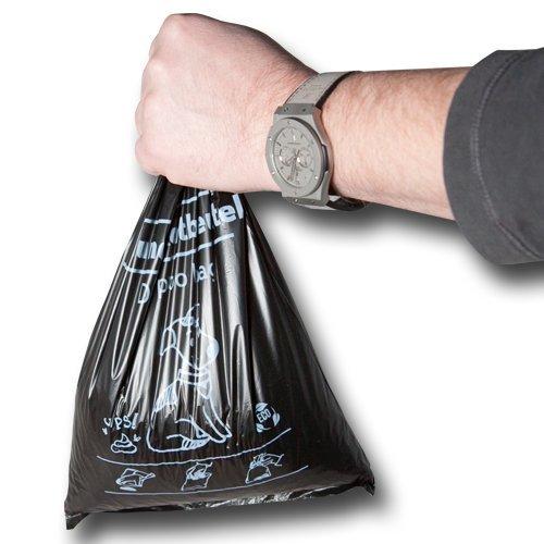 2000 Stück Hundekotbeutel 21×32+3,5 cm – zu 100 Stück geblockt – Der Umwelt zuliebe aus 100% Recycling Material! - 2