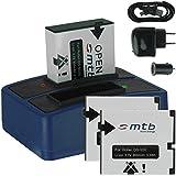 3x Batterie + Double Chargeur (USB/Auto/Secteur) pour Rollei DS-SD20 / Bullet 3S, 5S (WiFi) / AEE, Actionpro, BeastVision, Astak ...