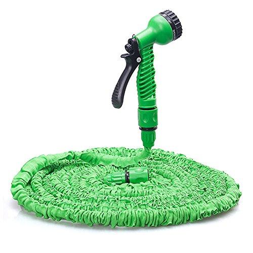 pdfans Expansion leicht Flexible Home Garten Wasser Schlauch Rohr mit 7Modus Spray Gun für Waschen Auto, als Blumen Gemüse, cleaming Windows Boden (Gemüse Waschen Spray)