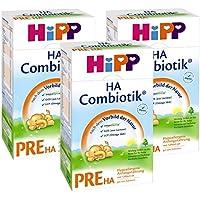 Hipp Pre HA Combiotik, Hypoallergene Anfangsmilch - von Geburt an, 3er Pack (3 x 500g)