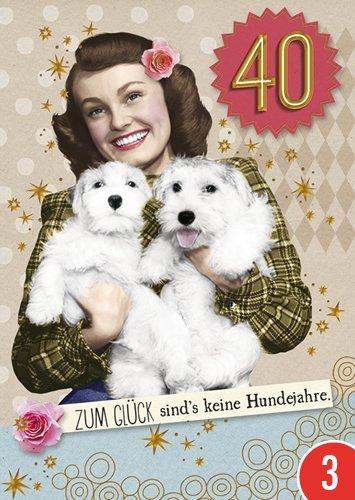 3er-Pack: Postkarte A6 +++ LUSTIG von modern times +++ KEINE HUNDEJAHRE GOLD +++ BK.EDITION © Pigment Productions Ltd