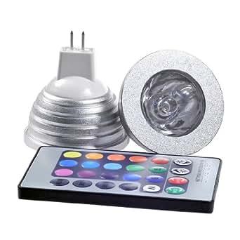 4 x magie declairage mr16 3w rgb couleurs changeantes - Ampoule de couleur castorama ...