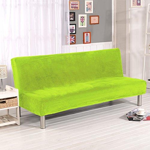 Dicker Sofaschutzüberzug, unifarben, Sofaschonbezug, elastischer Stretchstoff, mit festen Stretchhussen, ohne Lehnen, für Sofa, Bett, Hundebett, Couch, ausziehbar, grün, 180-210CM