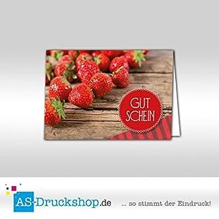 Gutschein Hofladen - Erdbeeren / 25 Stück/DIN A6