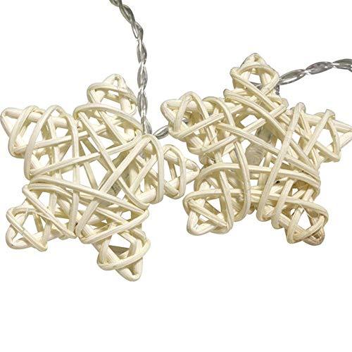 Led Laterne Rattan Pentagramm Led Schnur Licht Batterie Weihnachtsdekoration Hochzeitsfeier Licht Sternschnur Licht Lichterkette